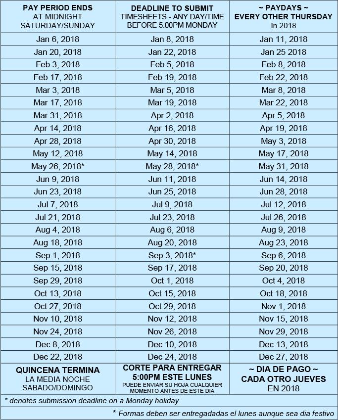 schedule timesheet